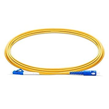 SC - LC Single Mode Simplex 5 Meter Fiber Optic Patch Cord