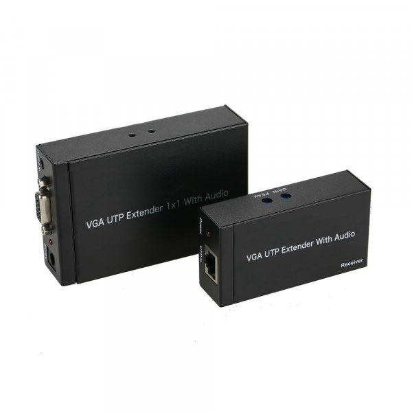 VGA UTP Extender 1x1 With Audio 300M